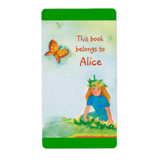 Book Labels with little girl