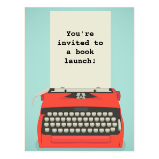 Book Launch or Literary Event Postcards