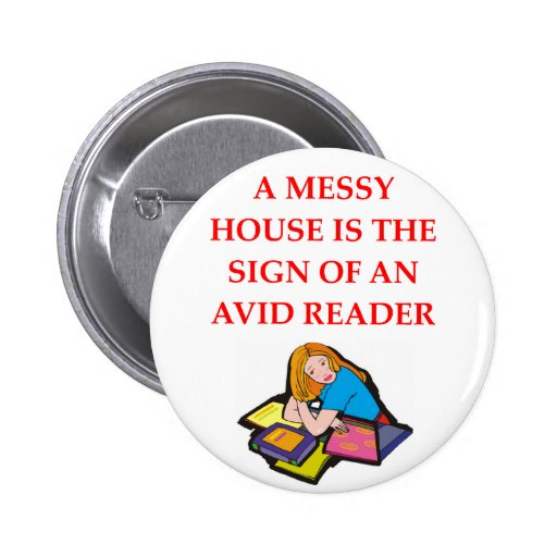 book lover pinback buttons