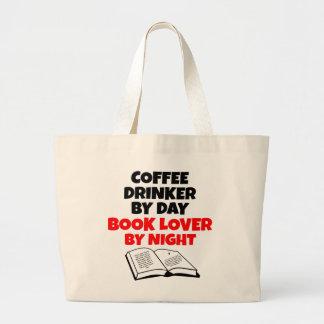 Book Lover Coffee Drinker Jumbo Tote Bag