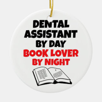 Book Lover Dental Assistant Ceramic Ornament