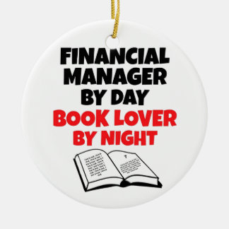 Book Lover Financial Manager Ceramic Ornament