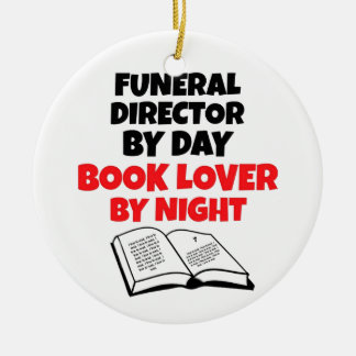 Book Lover Funeral Director Ceramic Ornament