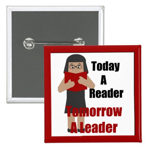 Book Lover Gal  Reader Leader Button 2
