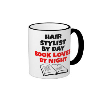 Book Lover Hair Stylist Ringer Mug