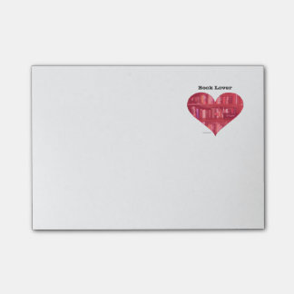 Book Lover Heart Post-it Notes