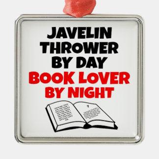 Book Lover Javelin Thrower Metal Ornament