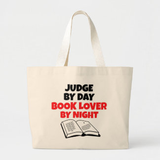 Book Lover Judge Large Tote Bag