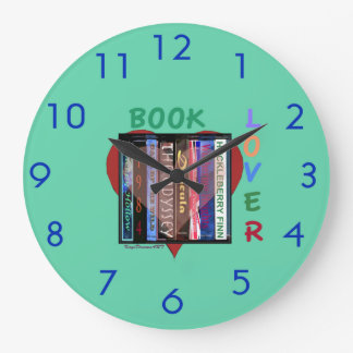 Book Lover Large Clock