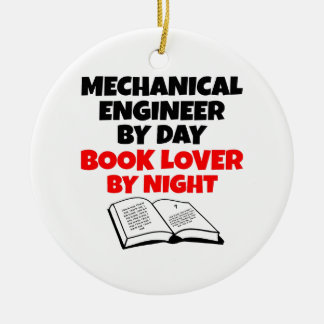 Book Lover Mechanical Engineer Ceramic Ornament