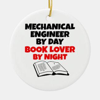 Book Lover Mechanical Engineer Round Ceramic Ornament