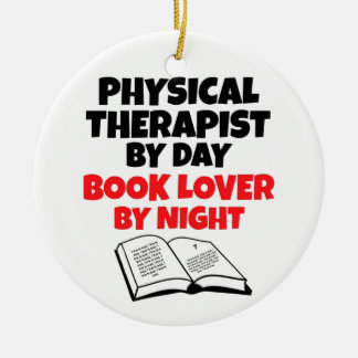 Book Lover Physical Therapist Ceramic Ornament
