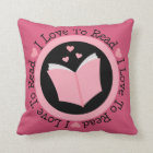 Book Lover Reading Throw Pillow Gift
