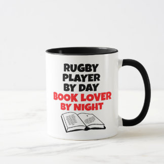 Book Lover Rugby Player Mug