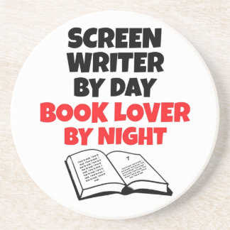 Book Lover Screen Writer Coaster