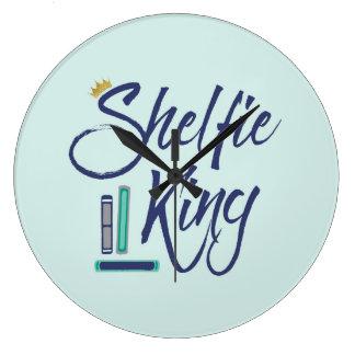 Book Lover Shelfie King Clock