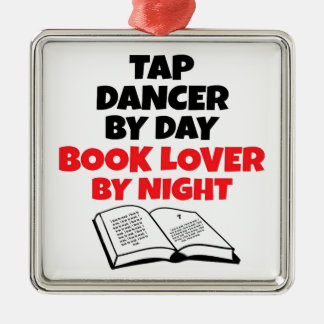 Book Lover Tap Dancer Metal Ornament