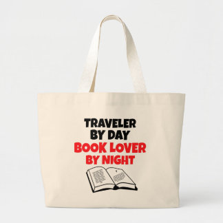 Book Lover Traveler Large Tote Bag