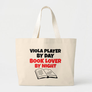 Book Lover Viola Player Canvas Bags