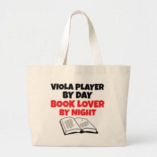 Book Lover Viola Player Large Tote Bag