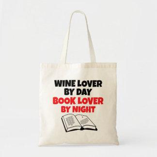 Book Lover Wine Lover Tote Bag