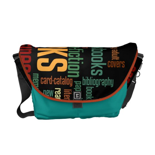 Book Lovers Autumn Colourful Text Courier Bag