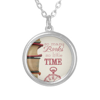 "Book lovers necklace ""So Many Books"""