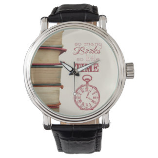 "book lovers vintage watch ""So Many Books"""