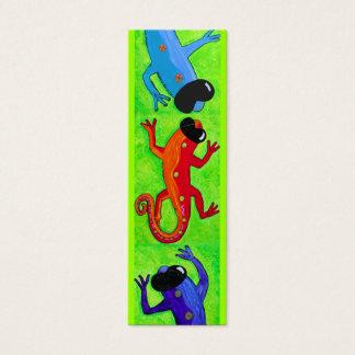 Book mark - Lizards in sunglasses Mini Business Card