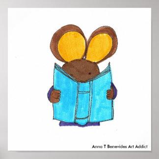Book Mouse, Anna T Benevides Art Addict Poster