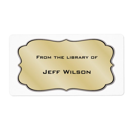Book Nameplate Labels