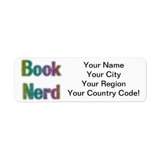 Book Nerd Colors Return Address Label