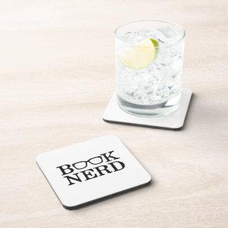 Book Nerd Nerdy Glasses Beverage Coasters