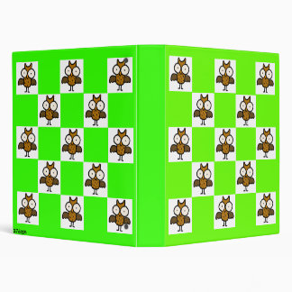 Book Nook Owls: Checkerboard Owls Avery Binder