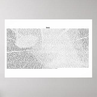 Book of Jonah (complete KJV text) Poster