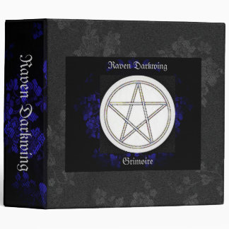 Book of Shadows Blue Gothic Cherry Blossoms Lg Vinyl Binders