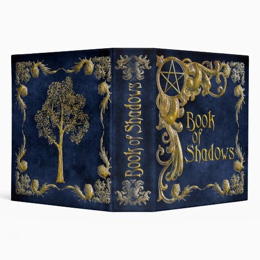 Book Of Shadows Blue with Gold  Highlights Vinyl Binders