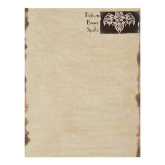Book of Shadows BOS Spooky Antique Haunted House Flyers