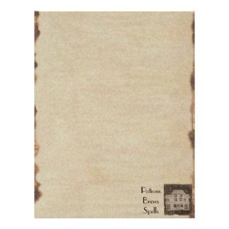 Book of Shadows BOS Spooky Antique Haunted House Flyer Design
