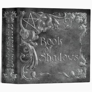 Book Of Shadows Gray with Silver Highlights Vinyl Binder