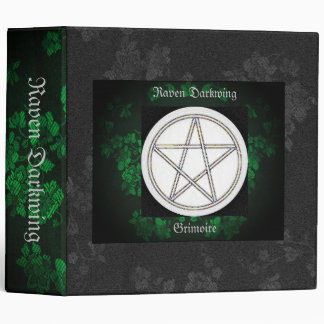 Book of Shadows Green Gothic Cherry Blossoms Lg Binders