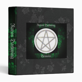Book of Shadows Green Gothic Cherry Blossoms Sm Binder
