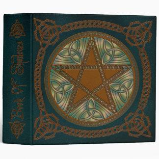 Book Of Shadows in Blue & Green Pentagram- 1 3 Ring Binders