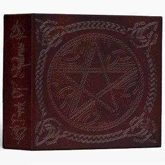 Book Of Shadows in Deep Red with Pentagram Binders