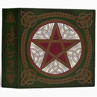 Book Of Shadows in Green with Red Pentagram - 1 Vinyl Binders