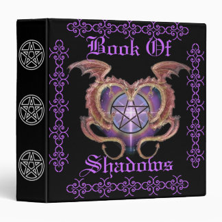 Book Of Shadows in Lavender and Black Binder