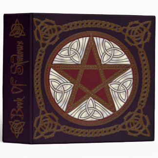 Book Of Shadows in Purple with Red Pentagram - 1 3 Ring Binders