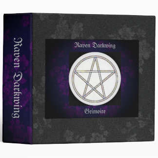 Book of Shadows Purple Gothic Cherry Blossoms Lg Vinyl Binders