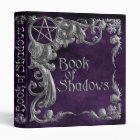 Book Of Shadows Purple Silver Highlight 1-In Spine Binder