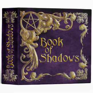 Book Of Shadows Purple with Gold  Highlights 3 Ring Binders